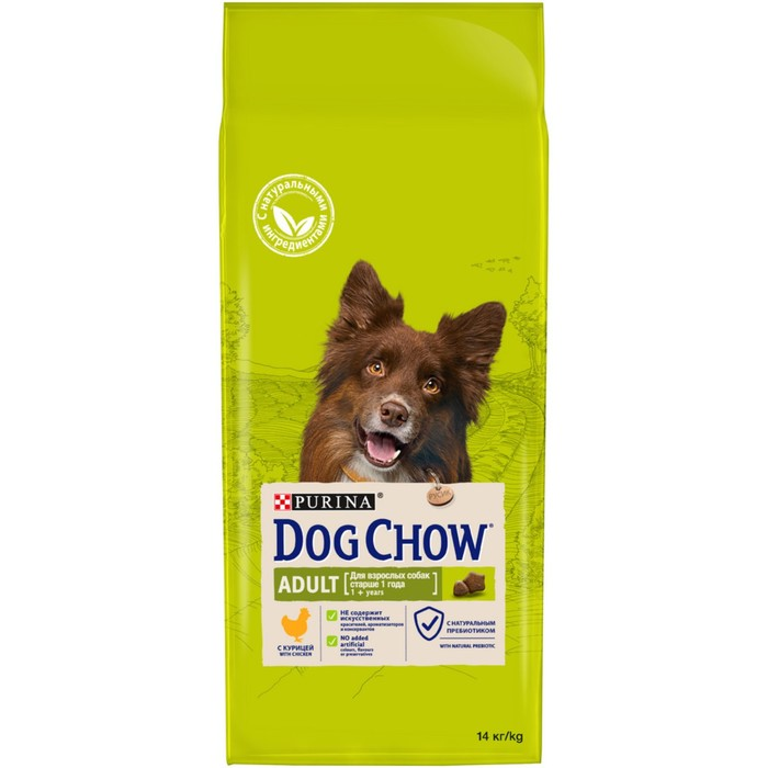 DOG CHOW dry food for dogs, chicken, 14kg