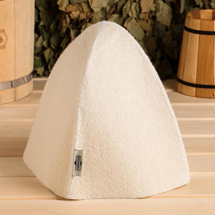 Шапка для бани и сауны «Классическая», белая