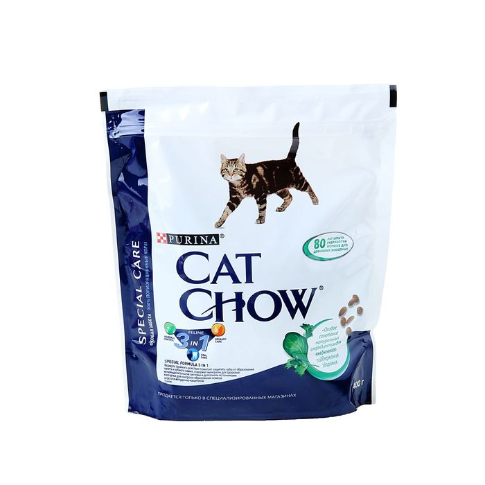 Dry food CAT CHOW 3 in 1 for cats, 400 g.