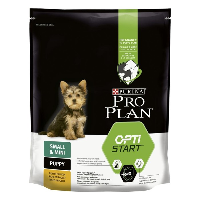 Dry food PRO PLAN for puppies of small breeds, chicken / rice, 700 g.