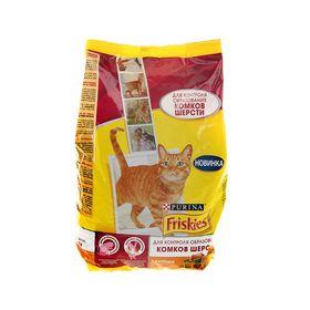 Сухой корм FRISKIES для кошек, против комочков шерсти, курица/овощи, 1.5 кг