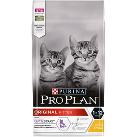 Dry food PRO PLAN for kittens, chicken / rice, 1.5 kg.