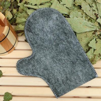 Bath mitten, grey