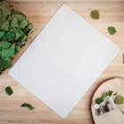 Коврик для бани и сауны «Классический», белый, 48 × 36 см