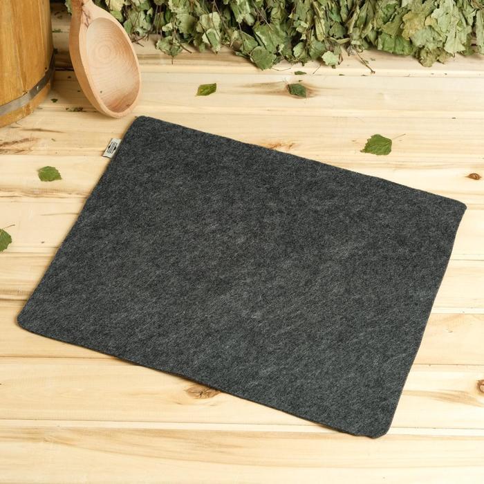 Коврик для бани и сауны «Классический», серый, 38,5 × 46,5 см