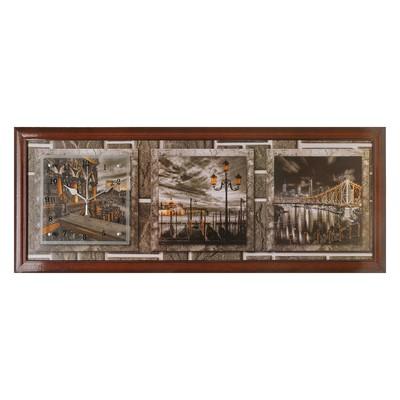 """Часы-картина настенные, серия: Город, """"Story Bridge"""", 35х100  см, микс"""