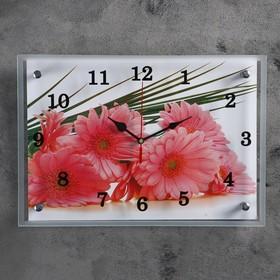 "Часы настенные, серия: Цветы, ""Герберы""25х35 см, микс"