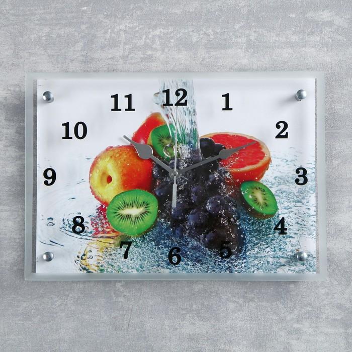 """Часы настенные, серия: Кухня, """"Цитрус""""25х35 см, микс"""
