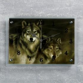 """Часы настенные, серия: Животный мир, """"Волки"""" 25х35 см, микс"""