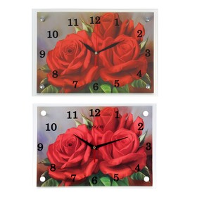 Wall clock, series: Flowers,