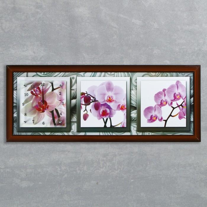 Wall clock, series: Flowers,