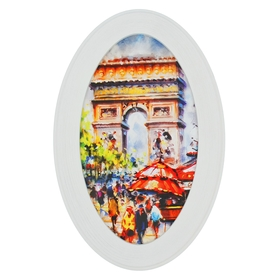 """The oval painting """"arc de Triomphe"""""""