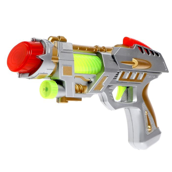 "Gun ""Cosmoplastic"", light and sound effects, battery powered MIX color"