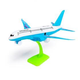 Самолёт инерционный «Авиалайнер», цвета МИКС