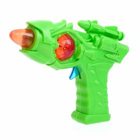 "Gun ""Blaster"" light and sound, powered by batteries, color MIX"