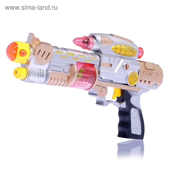 Пистолет «Космобластер», световые и звуковые эффекты, работает от батареек