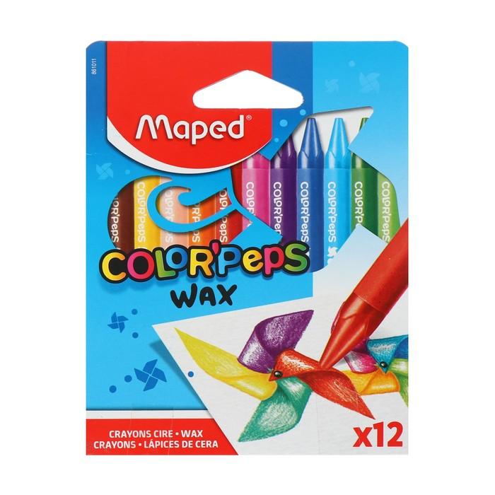 Wax crayons 12 colors, Maped Color'peps wax 861011.