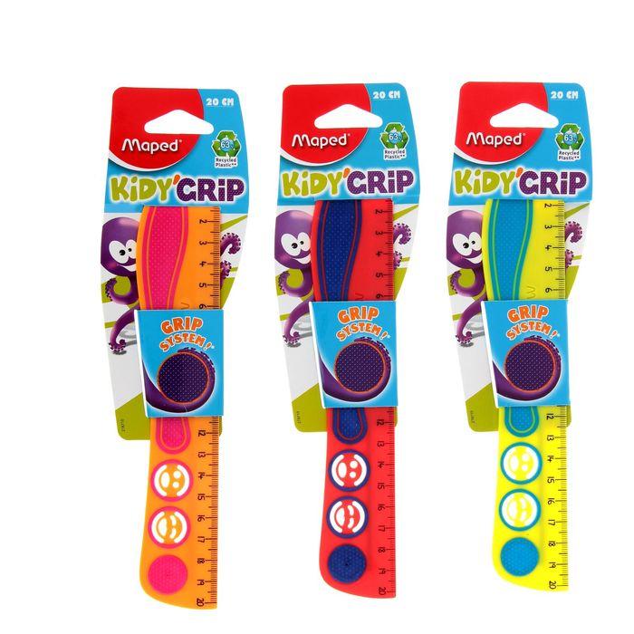 20 cm ruled Maped Kidi Grip, color, eco-friendly design, Euro suspension 278710.