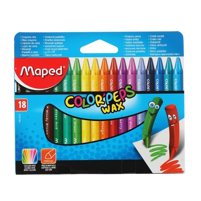 Мелки восковые 18 цветов Color'Peps Wax 861012