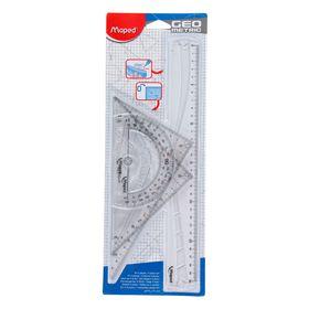 Набор чертежный Maped Geometric 4 предмета, прозрачный, блистер
