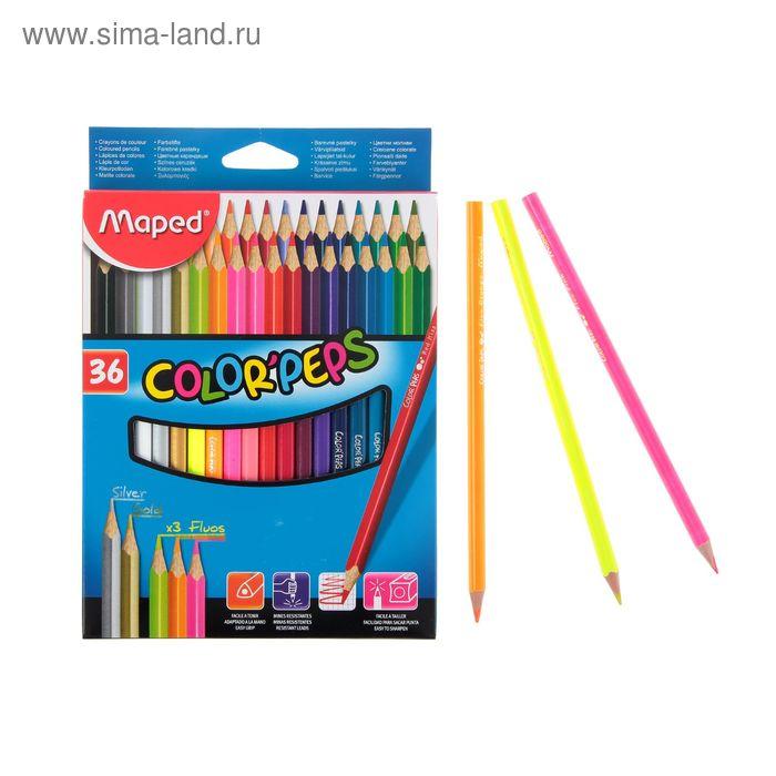 Карандаши трехгранные 36 цветов Color'Peps