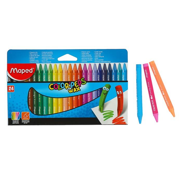 Мелки восковые 24 цвета Maped Color'Peps Wax 861013
