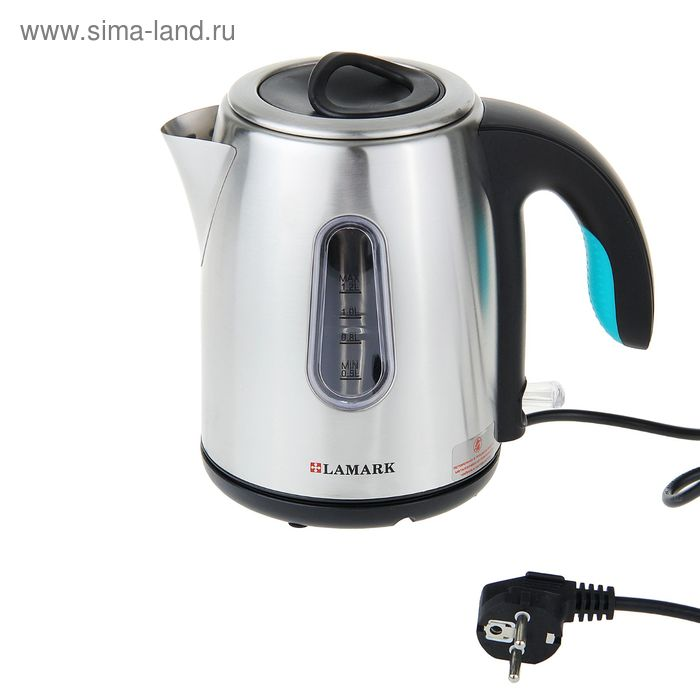 Чайник Lamark LK-1009, 1,2 л, 1500Вт, черный