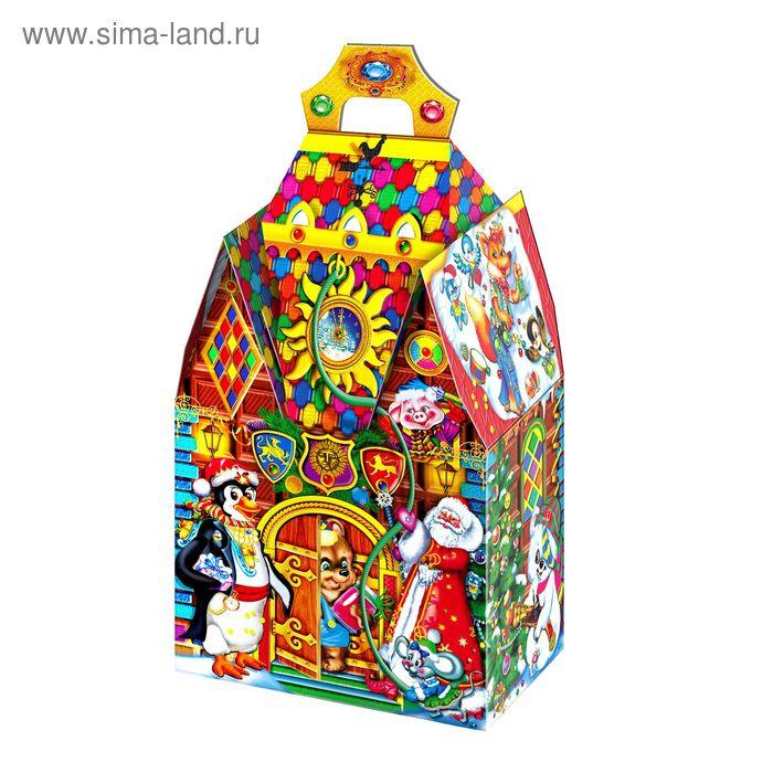 "Подарочная коробка ""Шоколадный замок"", сборная, 20 х 12 х 33 см"