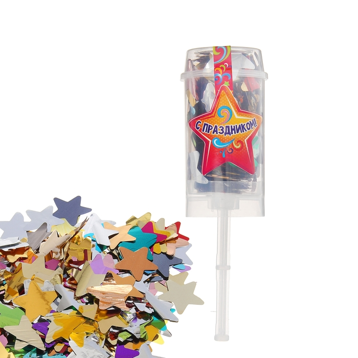 """Confetti in tube """"happy holidays!"""" to star 10 grams"""