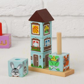Кубики на палочке «Зайка»