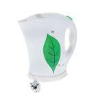 Чайник электрический LuazON LPK-1802, 1.8 л, 1850 Вт, бело-зелёный