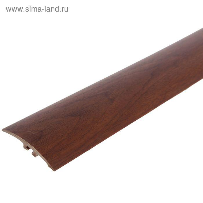 Порог ПВХ Идеал разноуровневый с дюбель-гвоздями 42 мм (1,8м) (341 ольха)