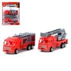 Машина инерционная «Пожарная охрана» (набор 2 шт), МИКС - фото 106539292