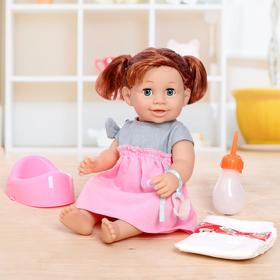 """Functional baby doll """"Annie"""" with accessories, drinks, writes, audio features, MIX"""