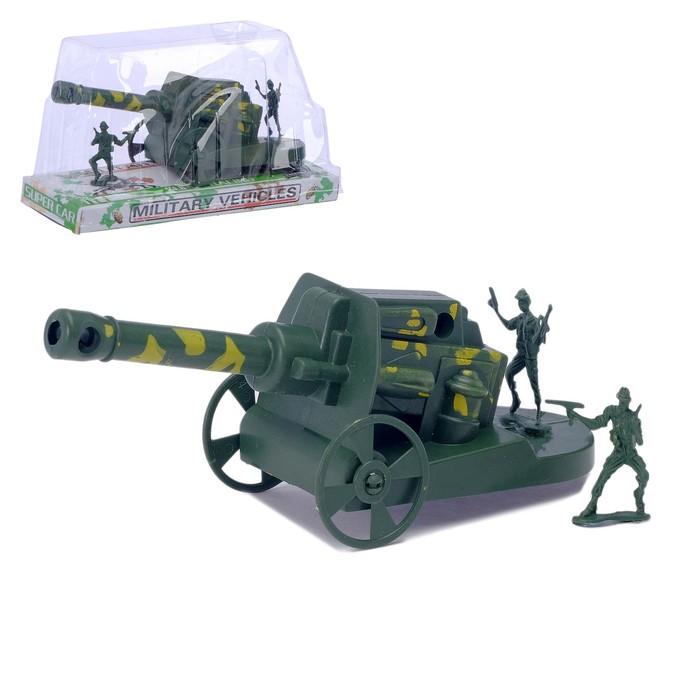 "Пушка ""Гаубица"", с солдатами"