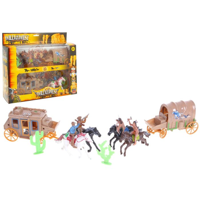 Set of cowboys and Indians Western