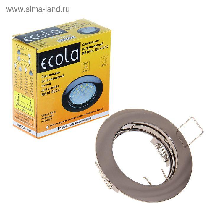 Светильник встраиваемый Ecola MR16 GU5.3 DL100, 24x75 мм, цвет чёрный хром
