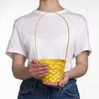 Basket, wicker, bamboo, yellow, (cylinder)