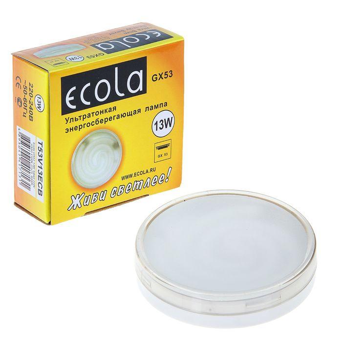 Energy-saving lamp Ecola, GX53, 13 W, 4100 K, 27x75 mm, daylight white.