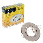 Светильник встраиваемый Ecola MR16 GU5.3 DH09, 25x90мм, плоский, поворотный, цвет сатин-хром