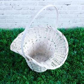 Basket, wicker, bamboo, white