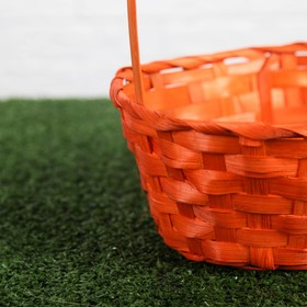 A set of wicker baskets, orange, bamboo, 3 PC.