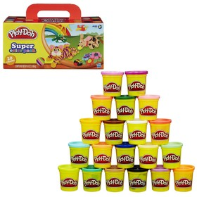 Plasticine Play-doh, set of 20 jars.