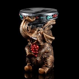 "Подставка декоративная ""Слон"" 43 см, бронза, микс"