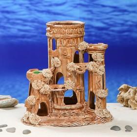 """Декорация для аквариума """"Замок с переходами"""", 18 х 26 х 29 см, микс"""