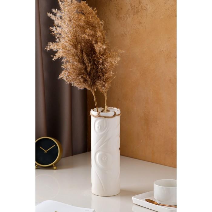 """Ваза настольная """"Марго"""", белая, керамика, 28 см - фото 801698"""