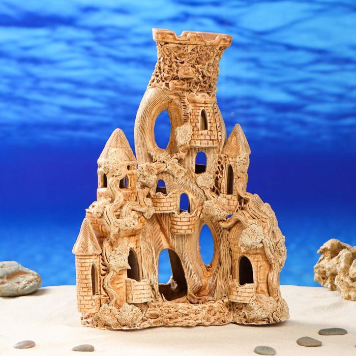 """Декорация для аквариума """"Замок Капуэро"""" 12 см × 24 см × 33 см"""