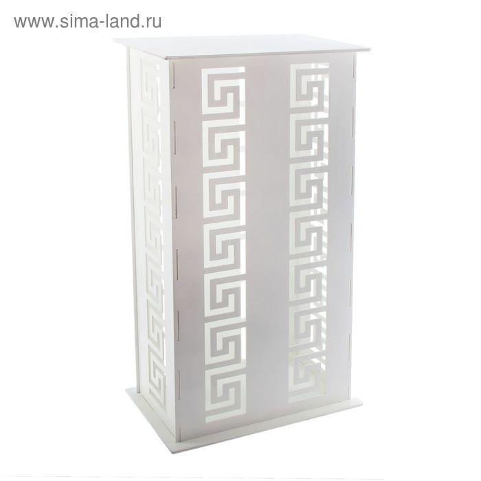 Подставка для цветов свадебная 41х24х75 см, цвет белый