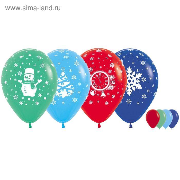"""Шар латексный 12"""" """"Новый год"""", пастель, набор 100 шт., цвета МИКС"""