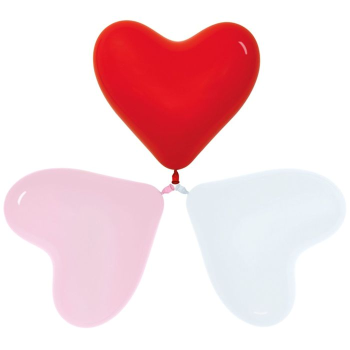 """Шар латексный 16"""" «Сердце», набор 100 шт., цвета МИКС - фото 308468640"""
